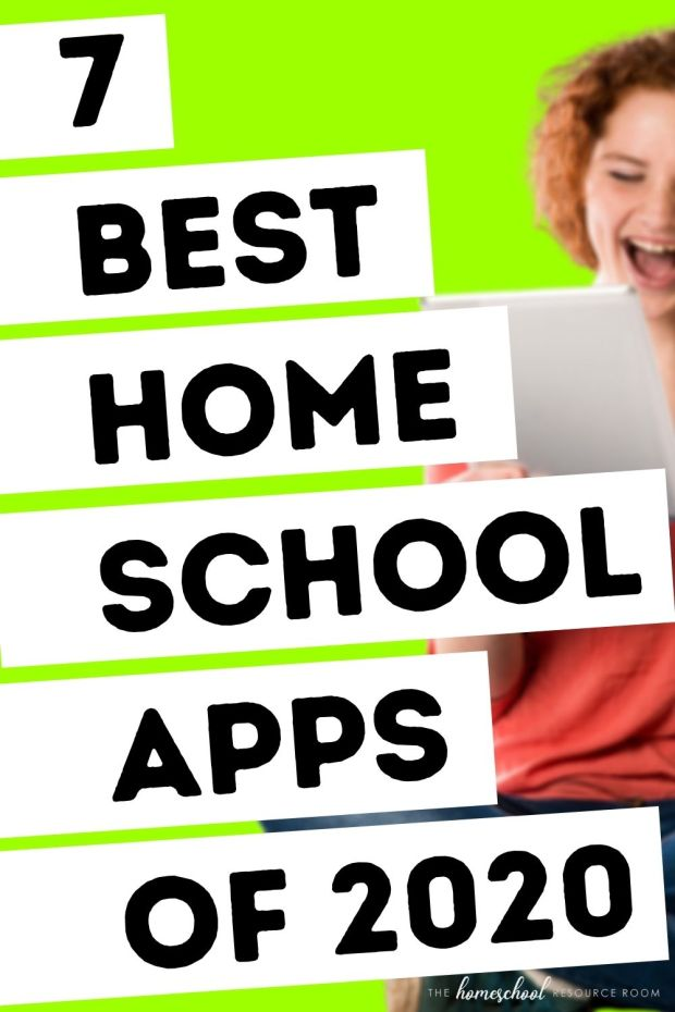 7 BEST homeschool apps for 2020. Learn anything, anytime, anywhere with educational apps - all you need is a phone or tablet. Let's go! #homeschool #onlineschool #app #education #learnonline