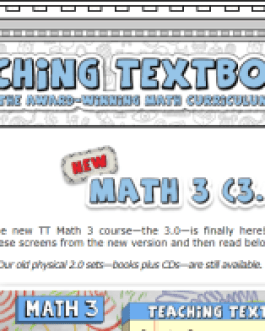 Teaching Textbooks: Math 3
