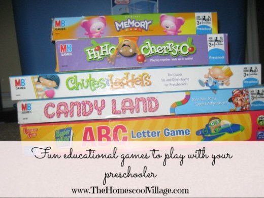 Fun   Educational Games For Your Preschooler   The Homeschool Village Educational Preschool Games   TheHomeschoolVillage com
