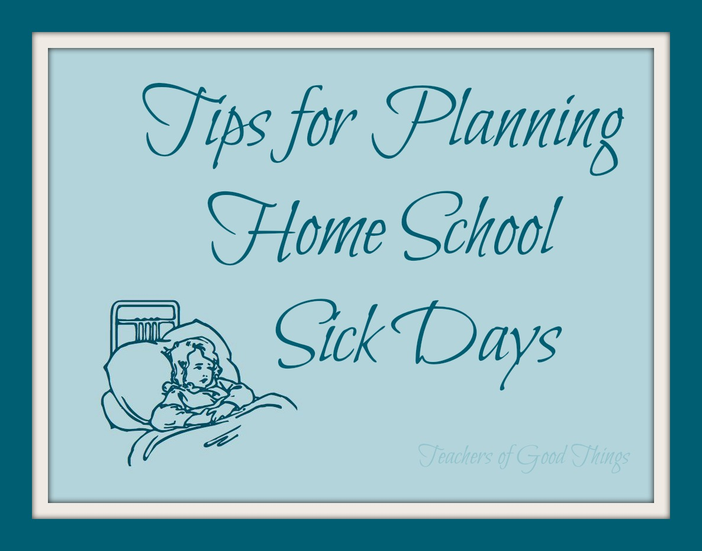 Planning Sick Days For Homeschoolers