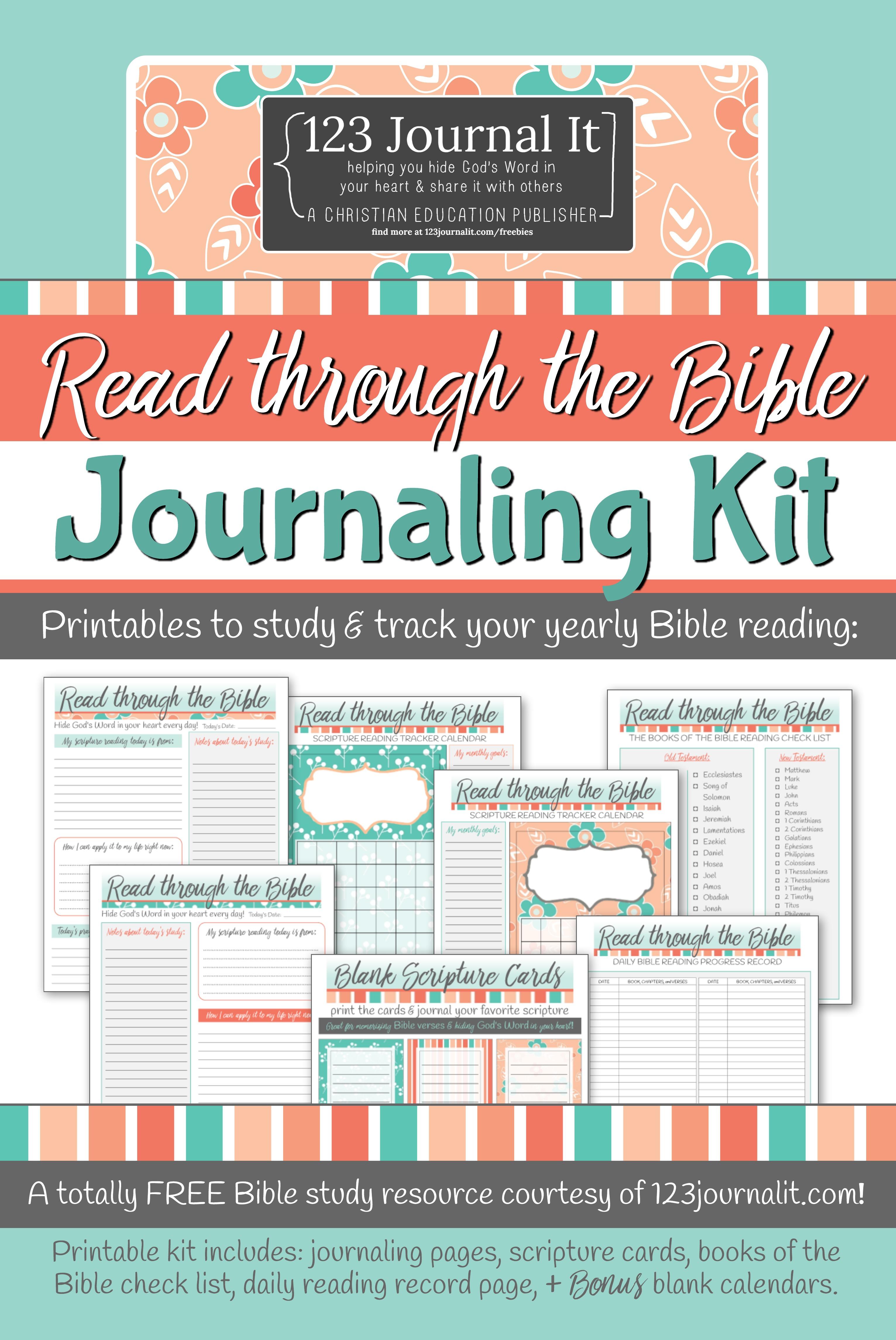 Free Printable Read Through The Bible Journaling Kit