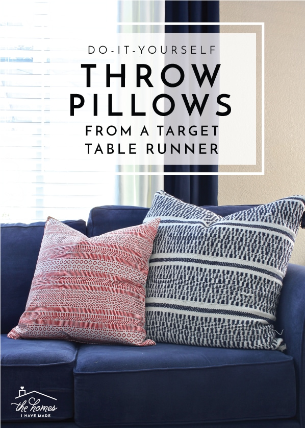 diy throw pillow covers from a target
