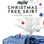 Diy Mini Christmas Tree Skirt A 15 Minute Project The Homes I Have Made