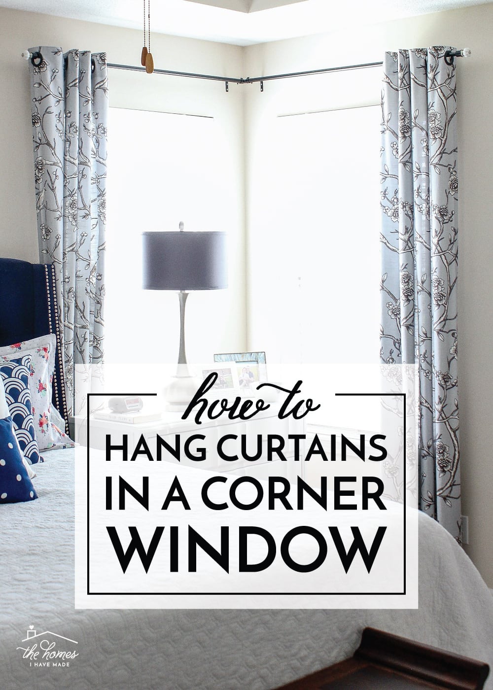 how to hang curtains in a corner window