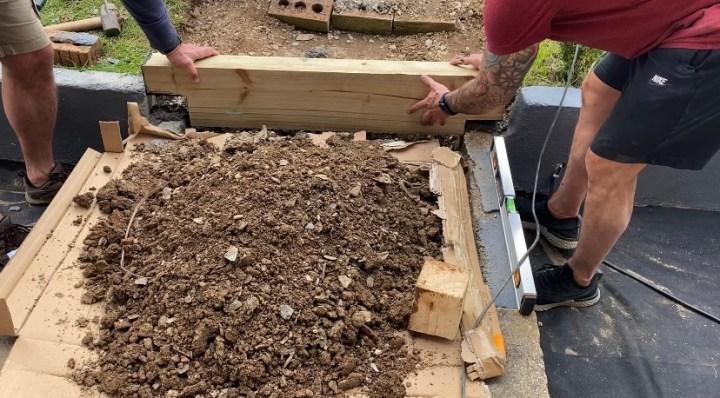 creating wooden sleeper steps