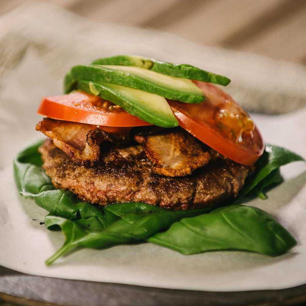 bison avocado burger