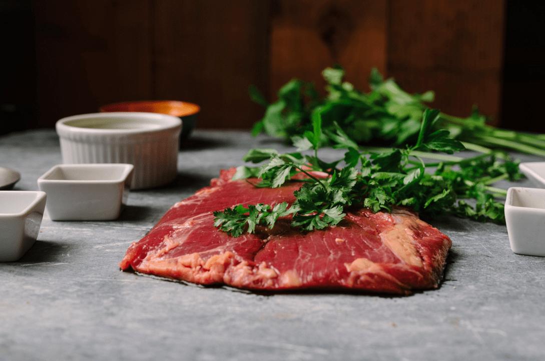 raw bison brisket