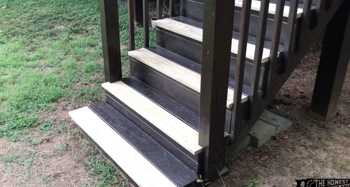 How To Replace Deck Stair Treads The Honest Carpenter   Stair Treads For Outdoor Steps   Stone   Stair Railing   Stair Stringers   Slip Resistant   Non Slip