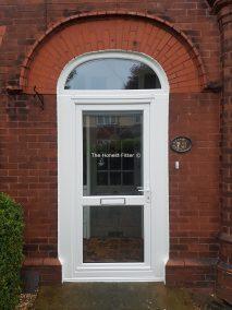 White UPVC Arch Door The Honest Fitter
