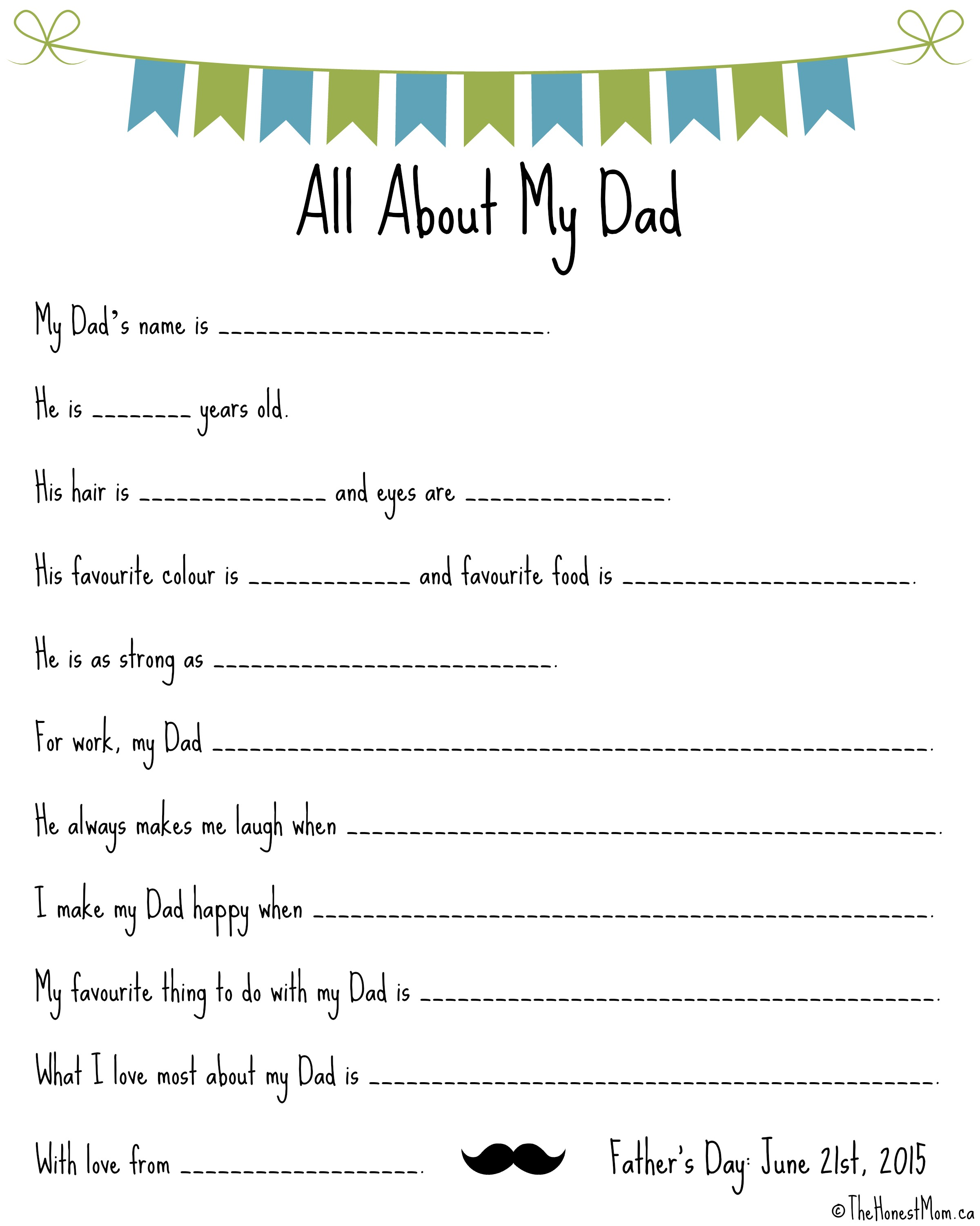Father S Day Mad Libs Free Printables