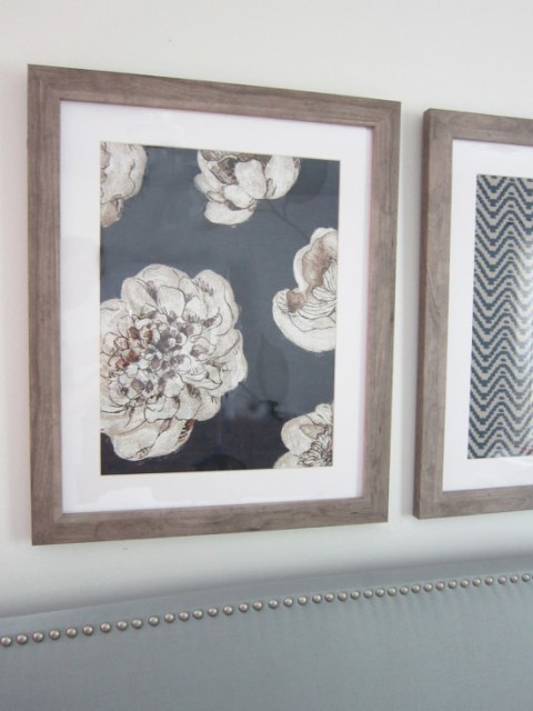 Pottery Barn Blue Textile Knockoff Art