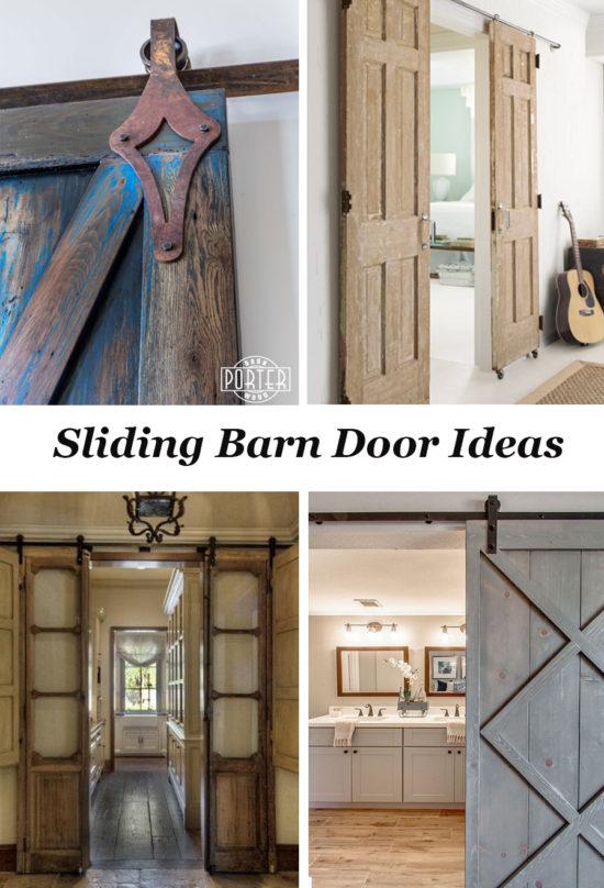 lots of ideas for sliding barn doors and door hardware
