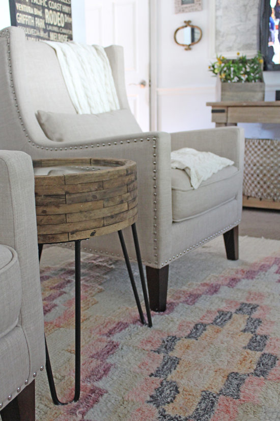 small side table diy upcycle -