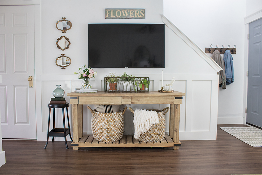 how to decorate around a tv the