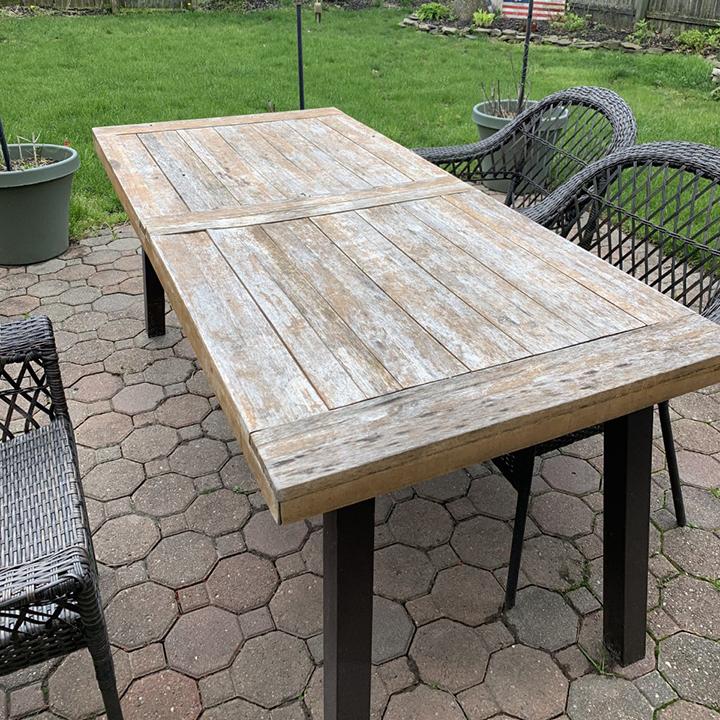how to restore wooden outdoor furniture