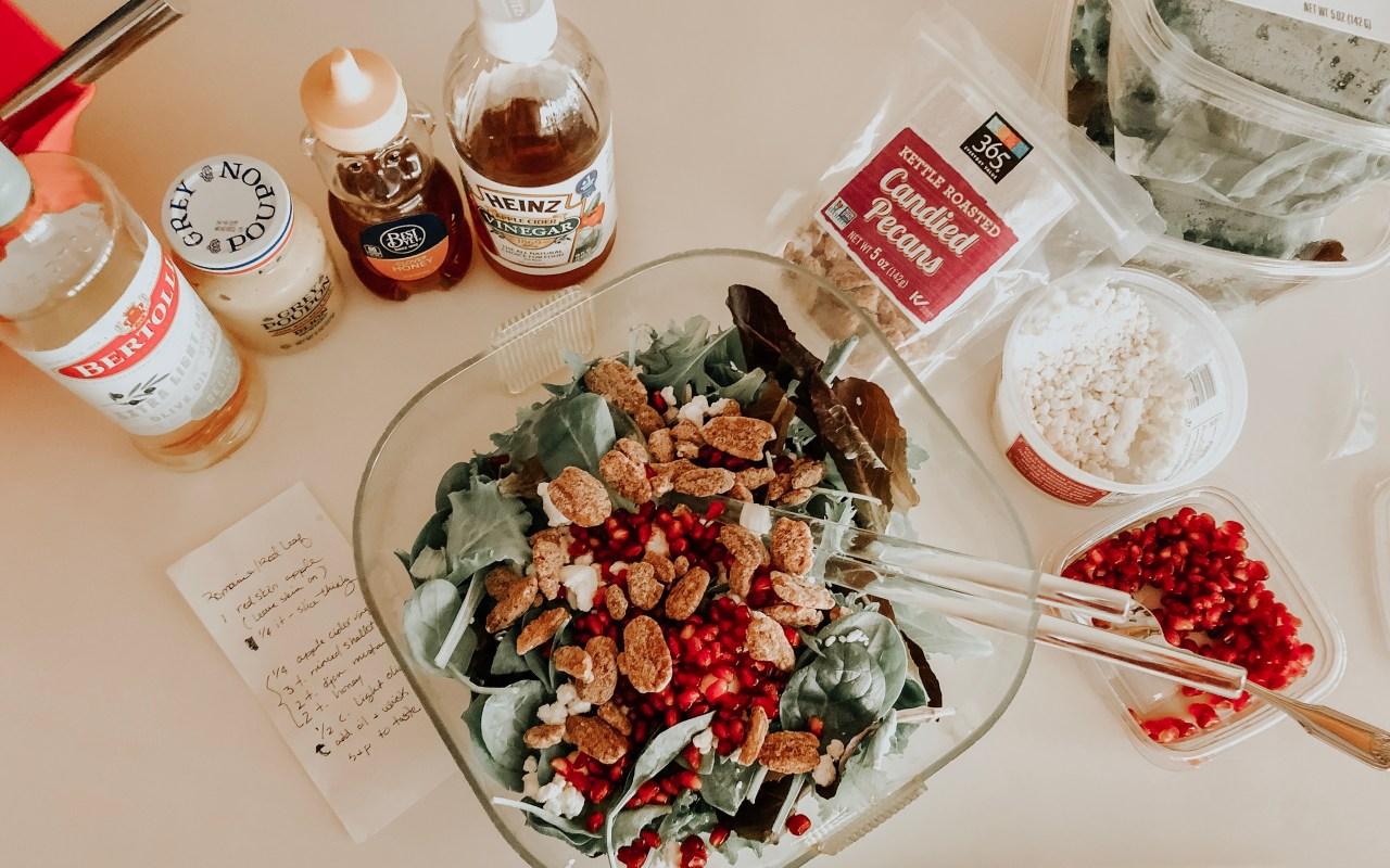 Festive Holiday Salad with Apple Cider Vinaigrette