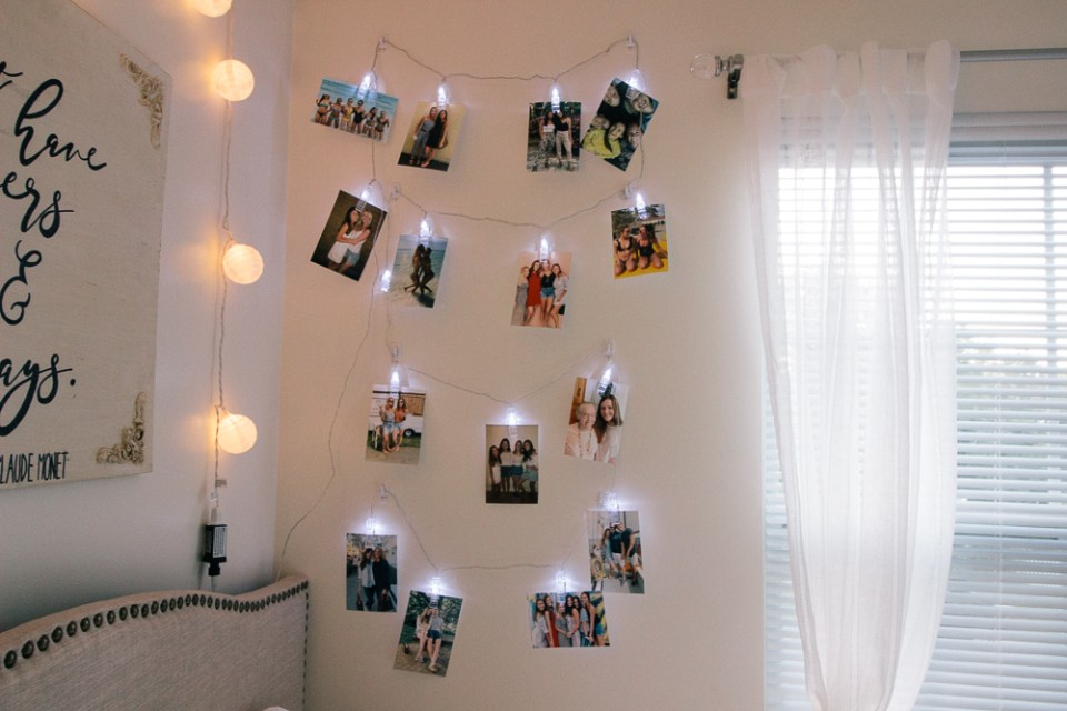 Everything You Need In Your Own College Room at the Honey Scoop - string lights, college bedroom, college bedroom decor