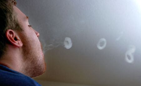 blow smoke rings
