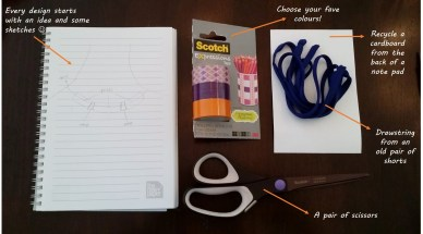 My amateurish sketch piece and tools to kickstart this creativity project!
