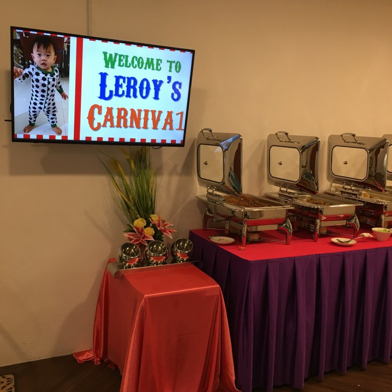 buffet caterer Singapore menu birthday party