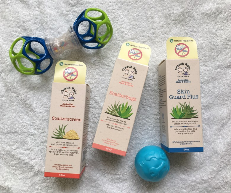 Scatterscreen isa 3-in-1 product which offers UVA and UVB protection with SPF8, and protects against bugs and dry skin!