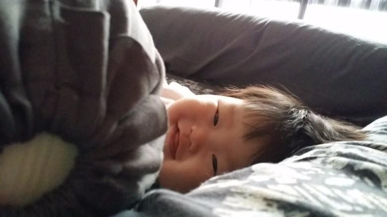 Chubby overfed baby on breastmilk and formula milk