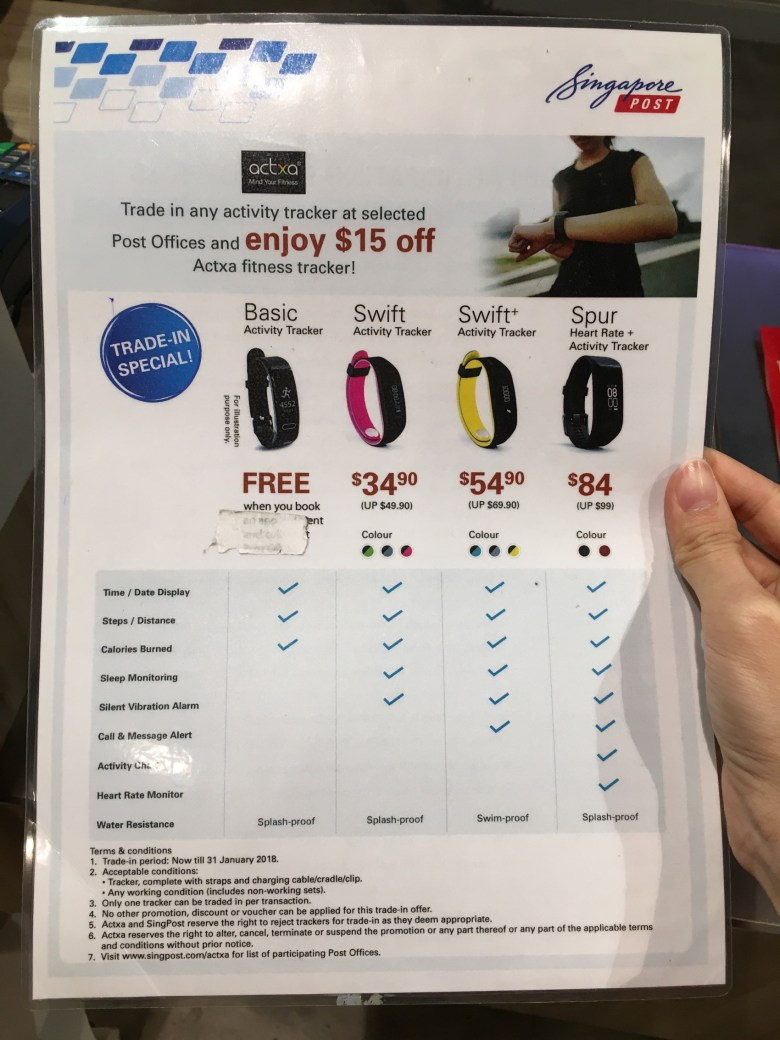 different models of activity trackers fitbit actxa