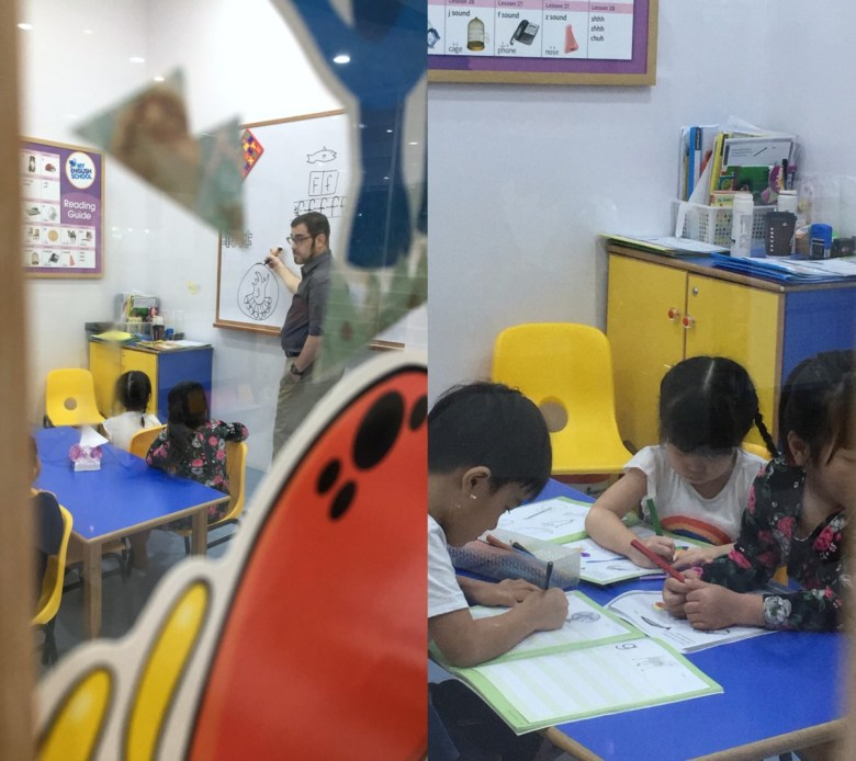 Phonics reading class preschooler
