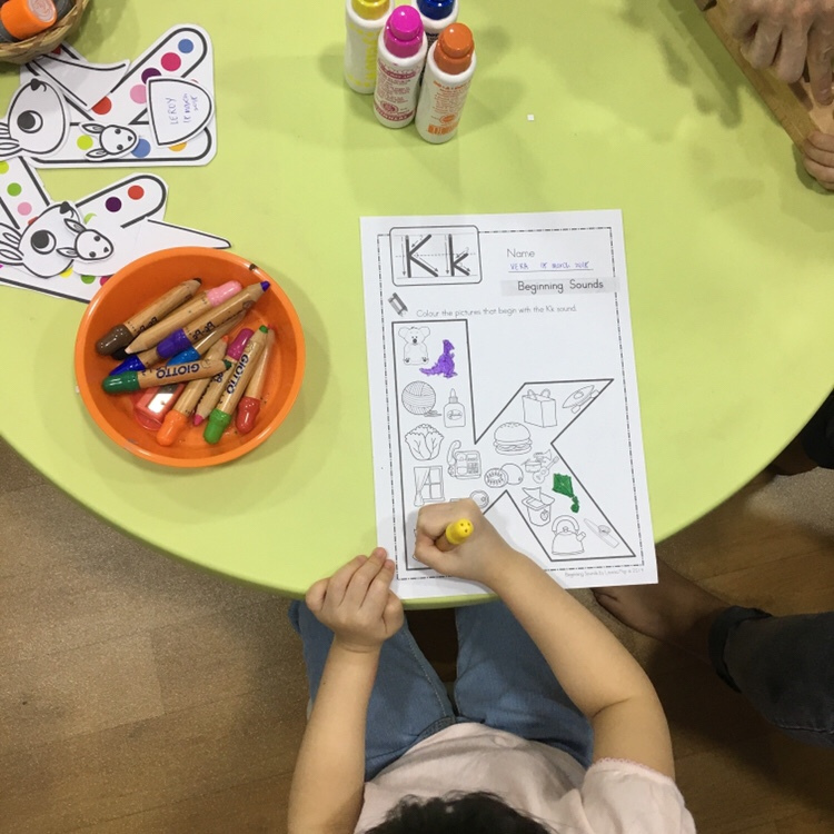 Learning phonics at Badanamu Singapore