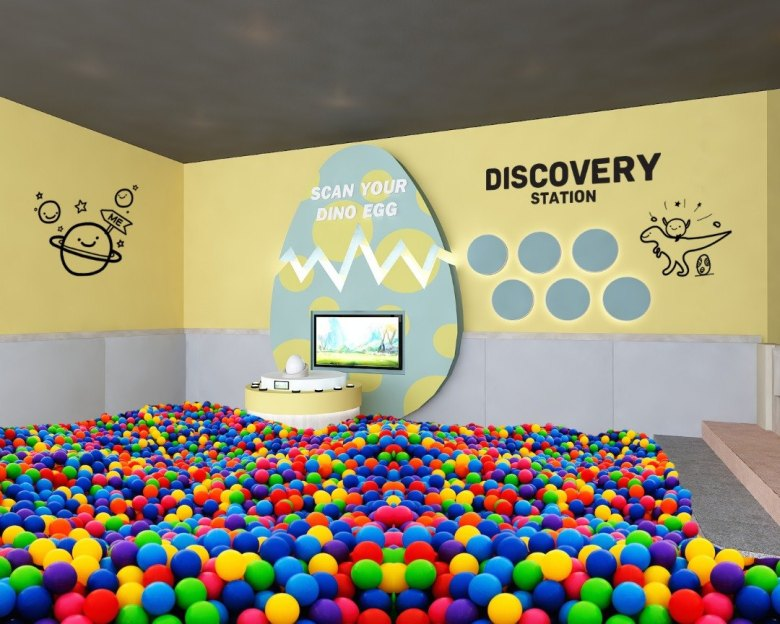 ball pit at kiddomo JB