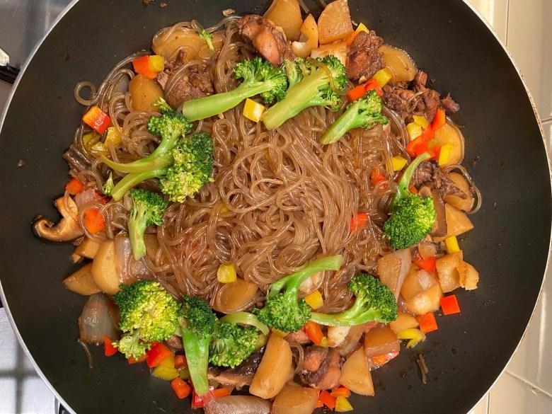 singapore mum blogger homecooked Jjimdak (Korean Braised Chicken) with Japchae recipe