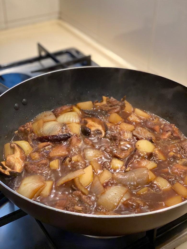 cooking Jjimdak (Korean Braised Chicken) recipe