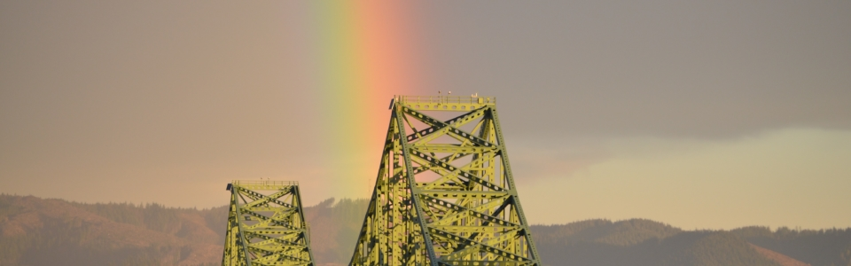 jason lycette photo astoria megler bridge rainbow