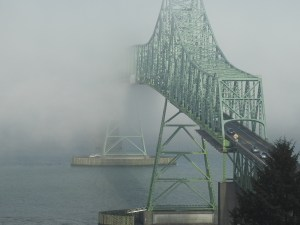 Astoria-Megler Bridge emerging from the fog