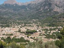 Soller from the train to Palma