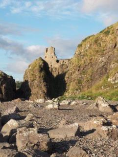 Rugged rocks & castle
