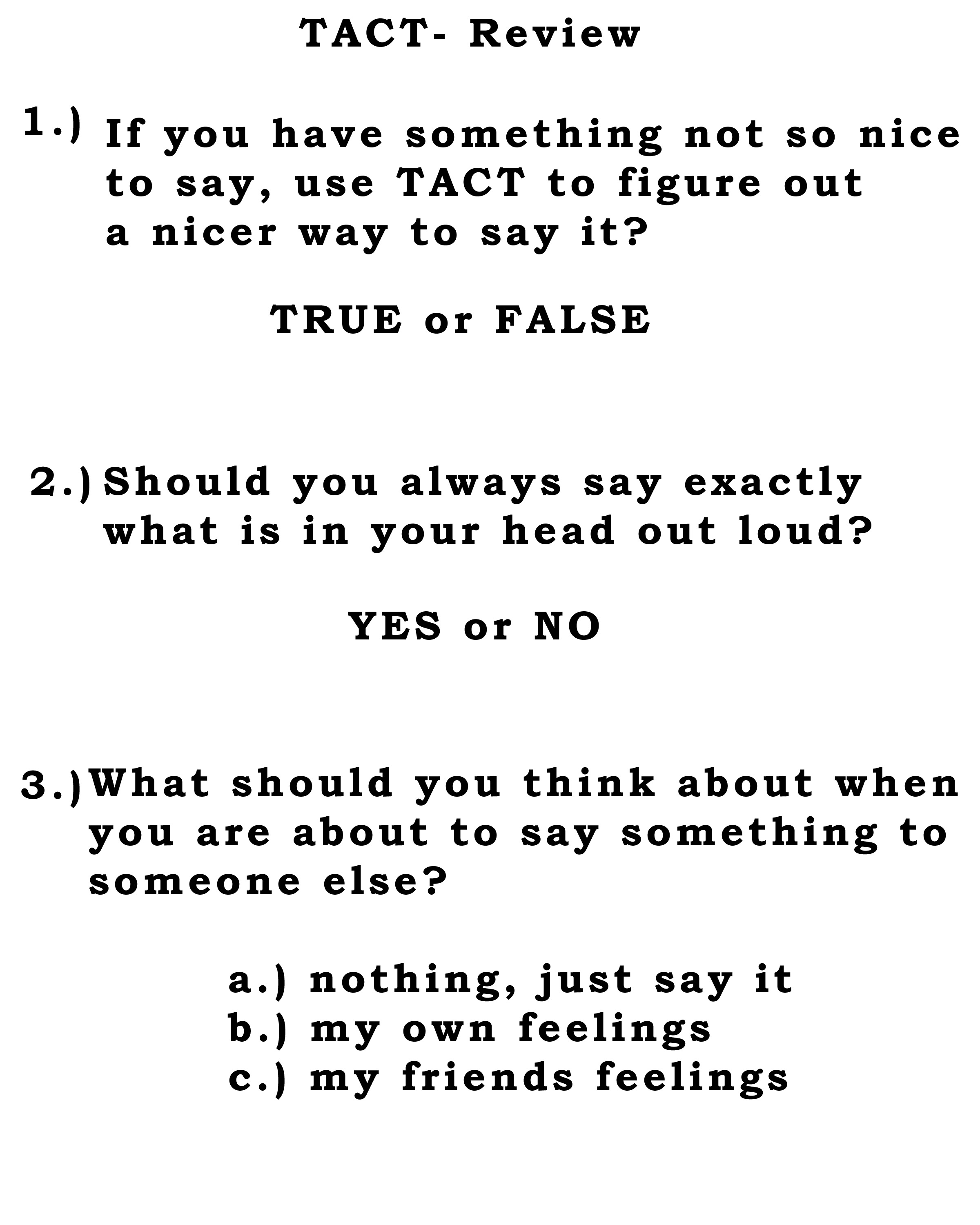 This Week S Lesson Is On Tact