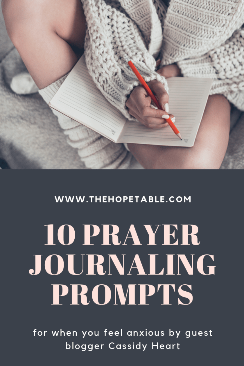Prayer journal prompts for when you are feeling anxious
