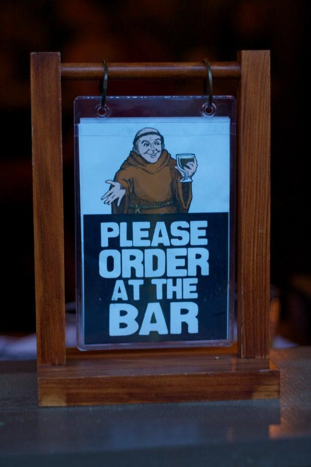 Order at the Bar at the Thirsty Monk