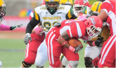 Nagee Jackson added the Hornets first touchdown of the game in the third quarter (Courtesy of Rodney Adams from dsuhornets.com).