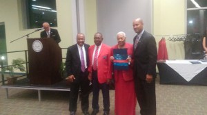 James Frank and Mary Jane Marshall receiving recognition at the banquet. (Photo Credit: Jasmine Saunders)