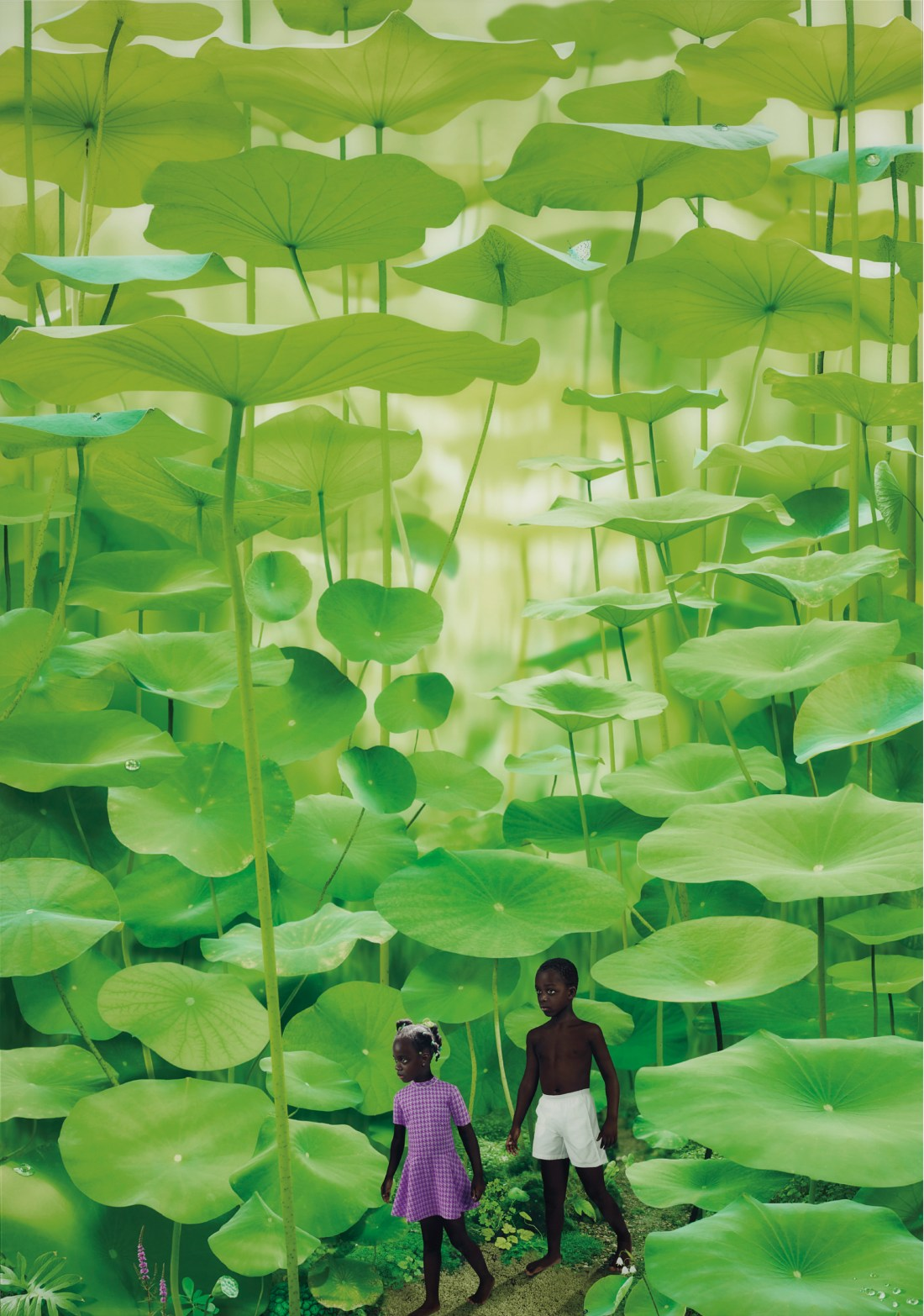Ruud van Empel's Boy & Girl, the first of a limited edition of seven prints, created in 2008.