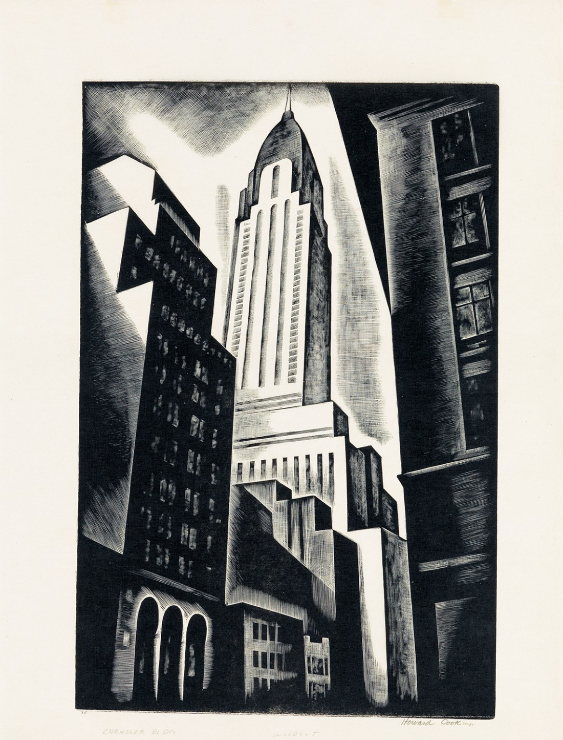Chrysler Building, a 1930 print by Howard Cook.