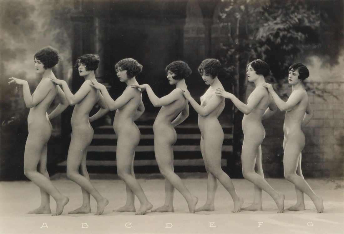 An image from The Model, Series No. 1, a 1925 portfolio of 15 photographs of nude women shot by Albert Arthur Allen.