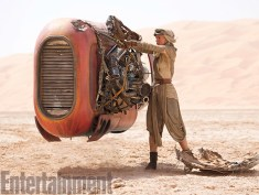 """""""It's a beat up tractor that's a hand-me-down or scavenged item,"""" says production designer Darren Gilford. """"It was meant to look like a piece of farm equipment, something that's not going real fast compared to what a sports car would do. But it has high-end torque like a tractor that needs to haul a trailer."""""""