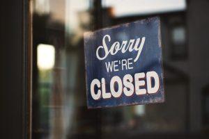 restaurant, closed sign