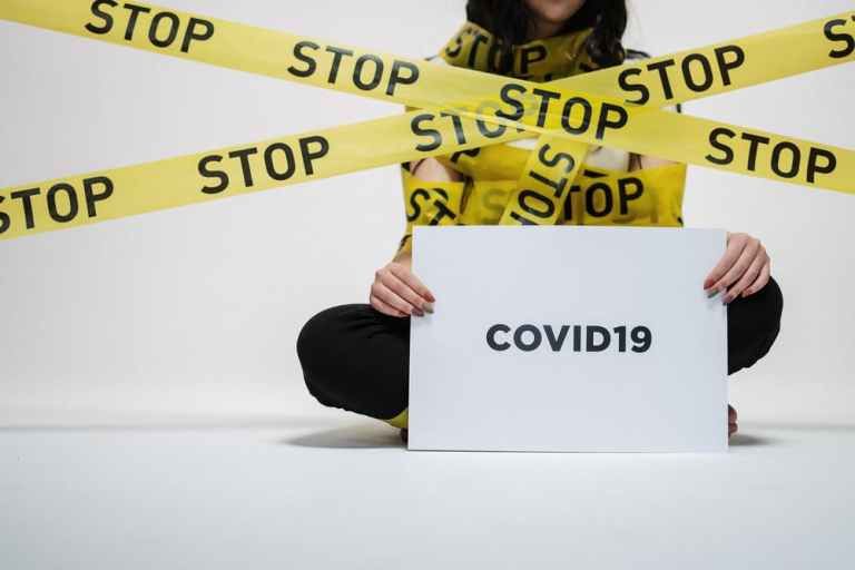 coronavirus survey, stop covid19 sign