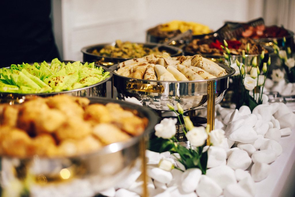 Buffet, table with food
