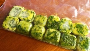 Iced Herbs, Olive oil