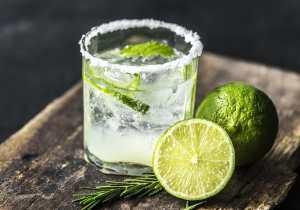 Glass, herbs, lime juice